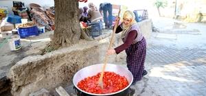 Sakin şehirde ev kadınlarının kış hazırlıkları