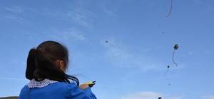 Yetim ve öksüz öğrenciler ilk kez uçurtma uçurdu