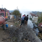 Gölpazarı'nda samanlık yangını