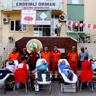 """Erdemli'de """"Bir Kan Bir Fidan"""" projesi"""