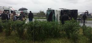 Rize'de trafik kazası: 3 yaralı