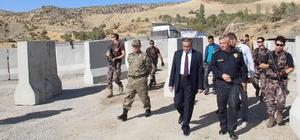 Şırnak Valisi Su, güvenlik noktalarını ziyaret etti