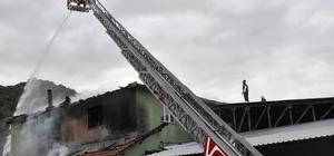 Amasya'da depo yangını