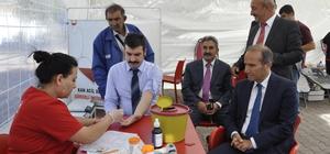 Arguvan'da Kızılay'a 42 ünite kan bağışı