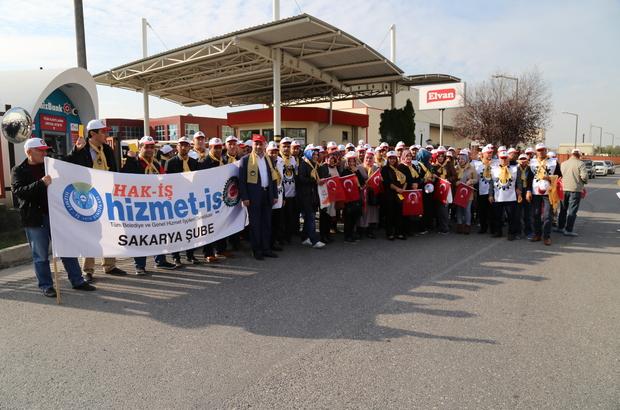 Sakarya'da fabrika işçilerinden eylem