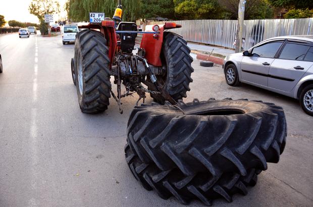 Trafiği tehlikeye sokan traktör sürücüsüne ceza