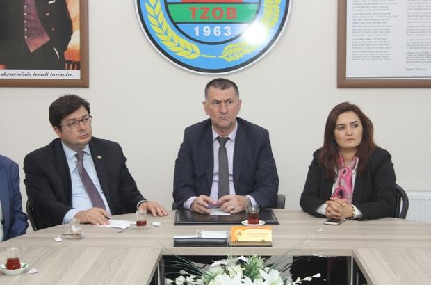 CHP Çanakkale Milletvekili Erkek Çarşamba Ziraat Odası'nı ziyaret etti