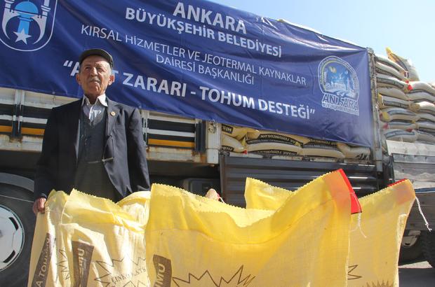 Beypazarı'nda çiftçilere tohum desteği