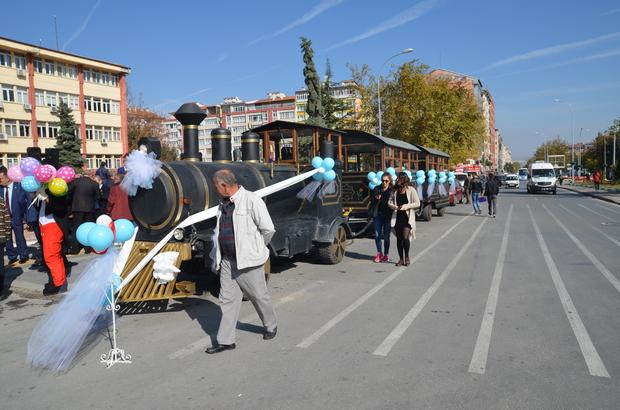 """Kütahya'da """"nostaljik tren"""" ile tarihe yolculuk"""