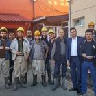Maden işçilerine aşure dağıtıldı