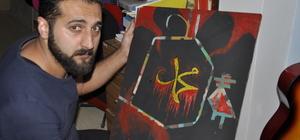 Yaptığı sanatla İslam dininin güzelliklerini anlatıyor