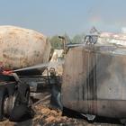 Adıyaman'da atıl durumdaki tanker yandı