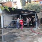 Antalya'da garaj yangını