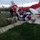 Ambulans helikopterle hasta nakli