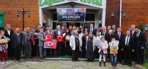 Yozgatlı şehit aileleri Samsun'da ağırlandı