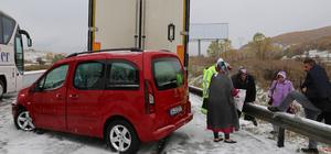 Bolu'da kar yağışı kazalara neden oldu