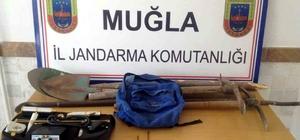 Muğla'da kaçak kazı operasyonu