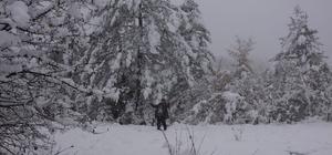 Azdavay'da kar yağışı