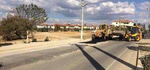 Meriç ilçesinde asfaltlama çalışması