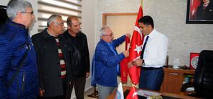 Gaziler ve dağcılardan Kaymakam Çetinbaş'a teşekkür ziyareti