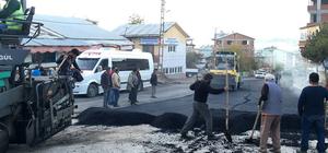 Akıncılar ilçesinde asfaltlama çalışmaları
