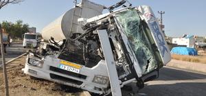 Beşiri'de zincirleme trafik kazası: 1 yaralı