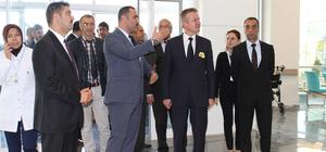 Dinar Kaymakamı Şahin yeni devlet hastanesini ziyaret etti