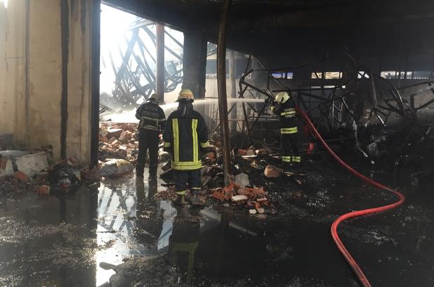 GÜNCELLEME - Samsun'da lastik fabrikasında yangın
