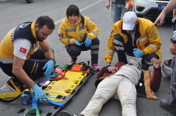 Lüleburgaz'da trafik kazası: 1 yaralı