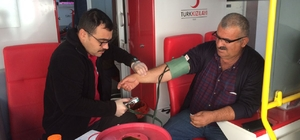 Akseki'de kan bağışına vatandaşlar ilgi gösterdi