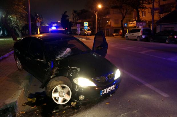Polisten kaçan sürücü kaza yaptı