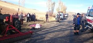 Sivas'ta devrilen traktörün sürücüsü öldü