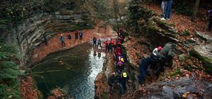Dağcılar Erfelek Tatlıca Şelaleleri'nde tırmanış yaptı
