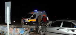 Tokat'ta traktör ile otomobil çarpıştı: 7 yaralı