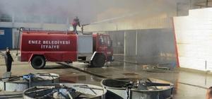 Edirne'de fabrika yangını