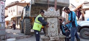Sakin şehrin tarihi dokusuna uygun çeşme yapılıyor