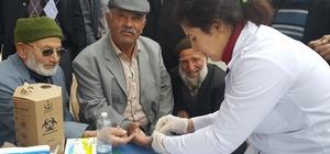 Şebinkarahisar'da kan şekeri ölçümü