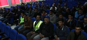 Belediye çalışanlarına iş sağlığı ve güvenliği eğitimi