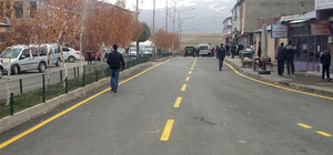Erzurum Büyükşehir Belediyesinin yol yapım çalışmaları