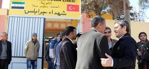 AK Parti heyeti Cerablus'ta