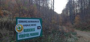 Domaniç'te 30 kilometrelik yürüyüş yolu yapıldı