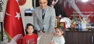 Gölbaşılı minik öğrenciler, Milli Eğitim Müdürünü ziyaret etti