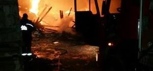 Bolu'da ahır yangını