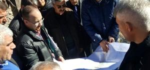 Başkan Özdemir, Erkenek içme suyu isale hattında incelemelerde bulundu