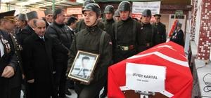 Kore gazisi Şevket Kartal son yolculuğuna uğurlandı