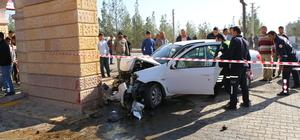 Şanlıurfa'da otomobil duvara çarptı: 4 yaralı