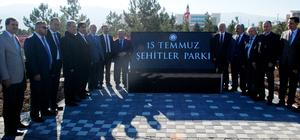 """DPÜ'de """"15 Temmuz Şehitler Parkı ve Külliyesi"""" açıldı"""