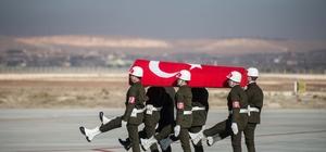Gaziantep'te şehit uzman çavuş için tören