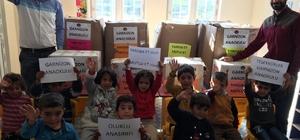 Siverek'te ihtiyaç sahibi öğrencilere kırtasiye ve giyim yardımı
