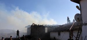 Havza'da ev yangını